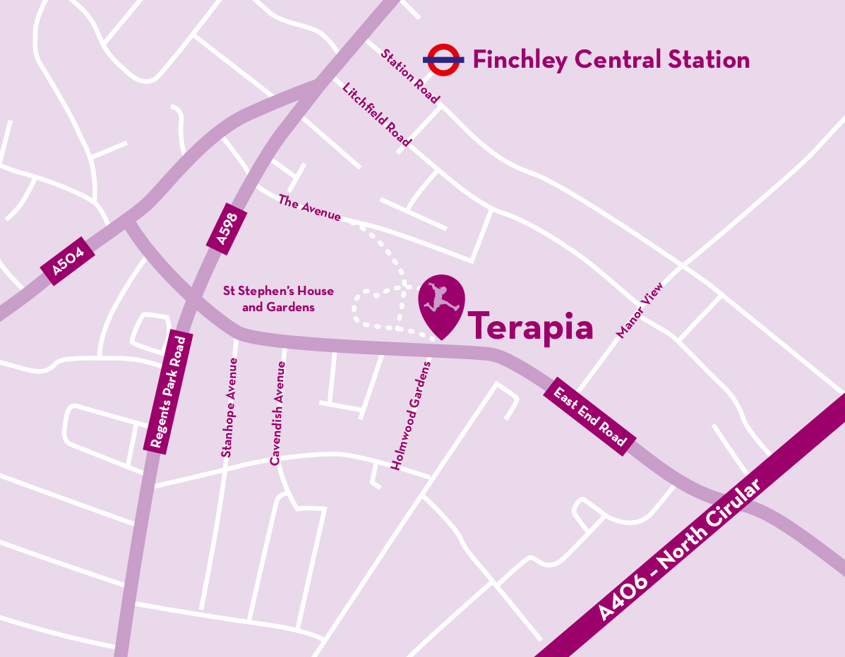 Terapia location map